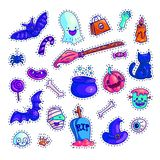 Set of colorful Halloween icons royalty free illustration