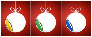 Creative colored Christmas balls set Royalty Free Stock Photos