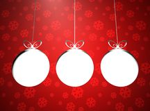Creative colored Christmas balls set Stock Photography