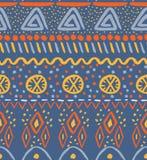 Creative and colorfu tribal pattern stock illustration