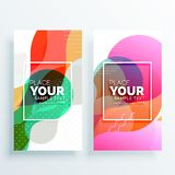 Creative colorful abstract banners set. Vector Royalty Free Stock Photo