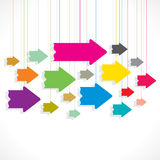 Creative colorful arrow background Stock Image