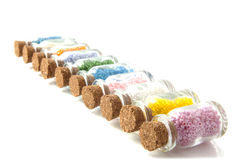 Creative with colorful beads Royalty Free Stock Photo