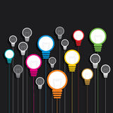 Creative colorful bulb background Royalty Free Stock Photography