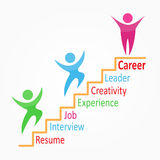 Creative colorful career path Royalty Free Stock Images