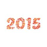 Creative colorful circle pattern happy new year 2015 design vector Royalty Free Stock Image