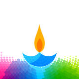 Creative colorful diwali diya Stock Image