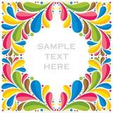 Creative colorful fauna or flora design Stock Image