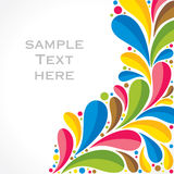 Creative colorful flora background Stock Images