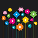 Creative colorful flower pattern background Royalty Free Stock Photos