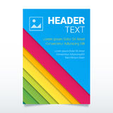 Creative colorful flyer vector template in A4 size. Modern poster, brochure business template, report cover Royalty Free Stock Images