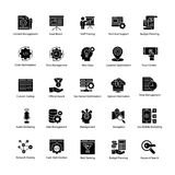 Set of Web and Seo Glyph Vector Icons vector illustration