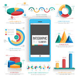 Creative colorful infographic elements set. Set of statistical infographic elements including colorful 3D pie charts and graphs for business reports and Stock Photography