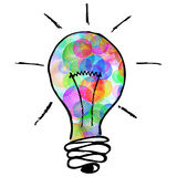 Creative colorful lightbulb Stock Photography