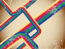 Creative and colorful lines on grunge Royalty Free Stock Image