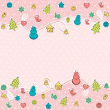 Creative colorful merry Christmas greeting background.  Royalty Free Stock Photography