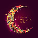 Creative colorful moon for Jashn-E-Eid celebration. Stock Photos