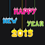 Creative colorful new year 2015 candle theme design.  Royalty Free Stock Photos