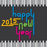 Creative colorful new year 2015 greeting design  Royalty Free Stock Photography