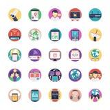 Internet Flat Icons Set vector illustration