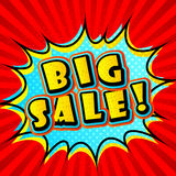 Creative colorful poster Big sale in Pop-Art Style. Comic book Royalty Free Stock Photos