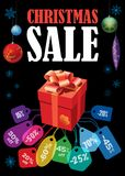 Christmas Sale poster Stock Images