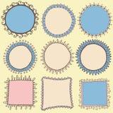 Creative colorful round square borders. Creative colorful round and square borders frames vector vector illustration