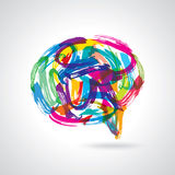 Creative colorful speech bubbles Stock Image