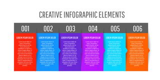 Creative Colorful stickers infographic design