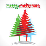 Creative colorful tree merry christmas tree Royalty Free Stock Image