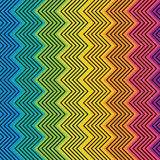 Creative colorful zig-zag  design pattern Stock Image