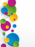 Creative coloured circles background Stock Photo