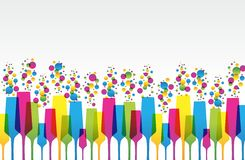 Creative Coloured Mix Champaign Glass. Illustration Stock Photography