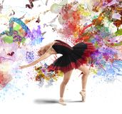 Creative colourful dancer Stock Image