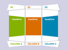 Creative columns Royalty Free Stock Photo