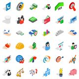 Creative company icons set, isometric style Royalty Free Stock Photos