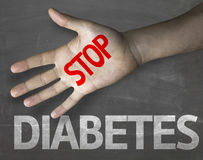 Creative composition with the message Stop Diabetes Stock Images