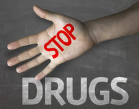 Creative composition with the message Stop Drugs Royalty Free Stock Photos