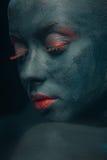Creative composition on the women body Stock Photos