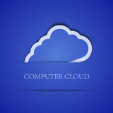 Creative computer cloud background.  illustration Royalty Free Stock Images