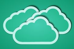 Creative computer cloud background. illustration Royalty Free Stock Image