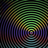 Creative concentric circles background Royalty Free Stock Images