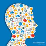 Creative concept of Business Processes. Vector Stock Photos