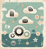 Creative concept of cloud computing connections Stock Images