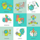 Creative Concept Colored Icons Royalty Free Stock Photography