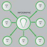 Creative concept for dark infographic. Business data visualization. Abstract circle elements of graph, diagram with 4 steps, optio. Ns, parts or processes royalty free illustration
