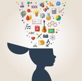 Creative concept of education. vector illustration