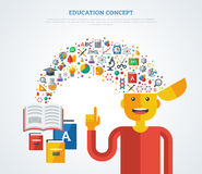 Creative concept of education Stock Photo