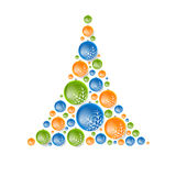 Creative concept fir tree from Christmas balls. Vector design Royalty Free Stock Image