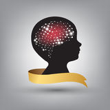 Creative concept of the human brain  Royalty Free Stock Image